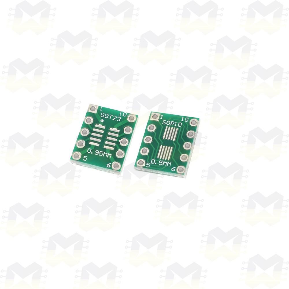 Adaptador SOP10 / MSOP10 / SOT23 SMD