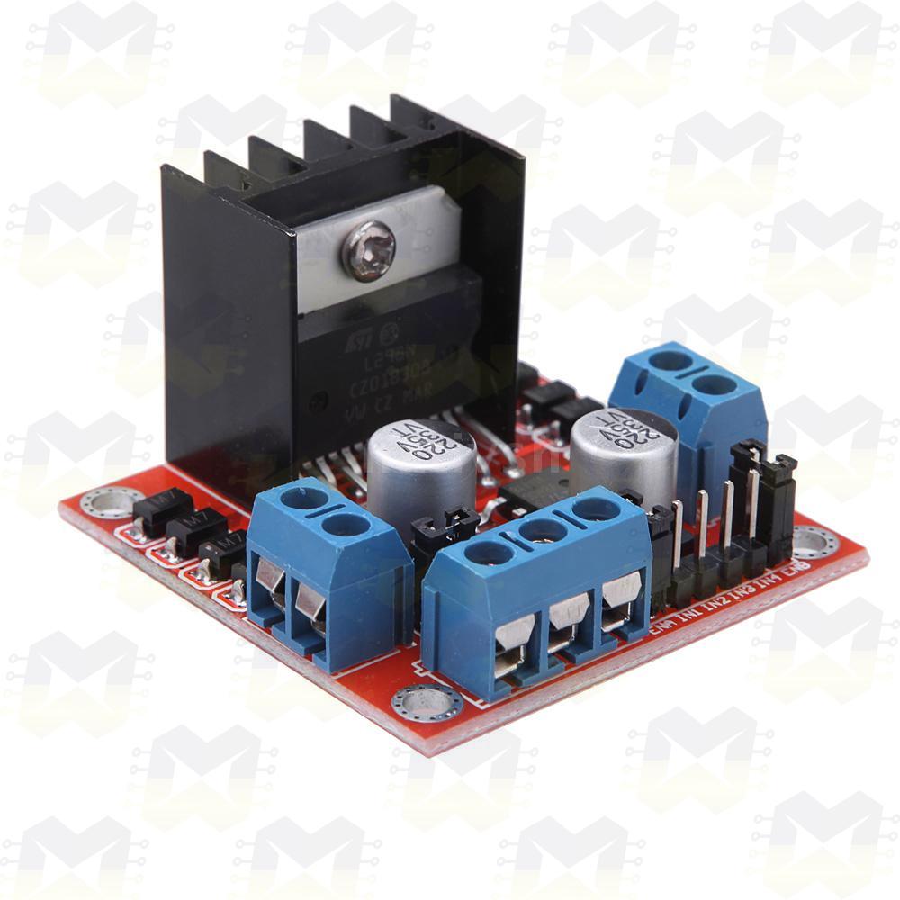 Módulo Ponte H L298N Driver Motor DC passo Servo Arduino Robótica Componentes Eletrônicos Prototipagem