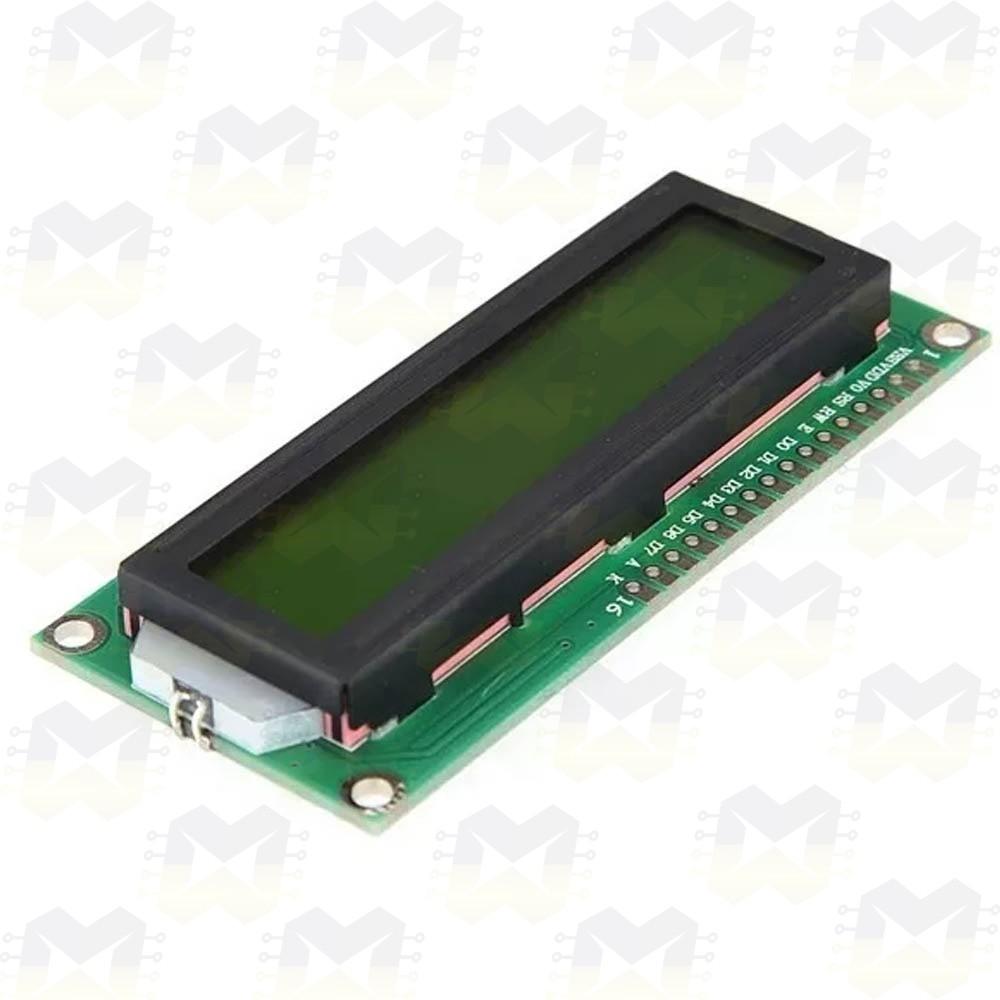 Display LCD 16x2 com Backlight (fundo) Verde
