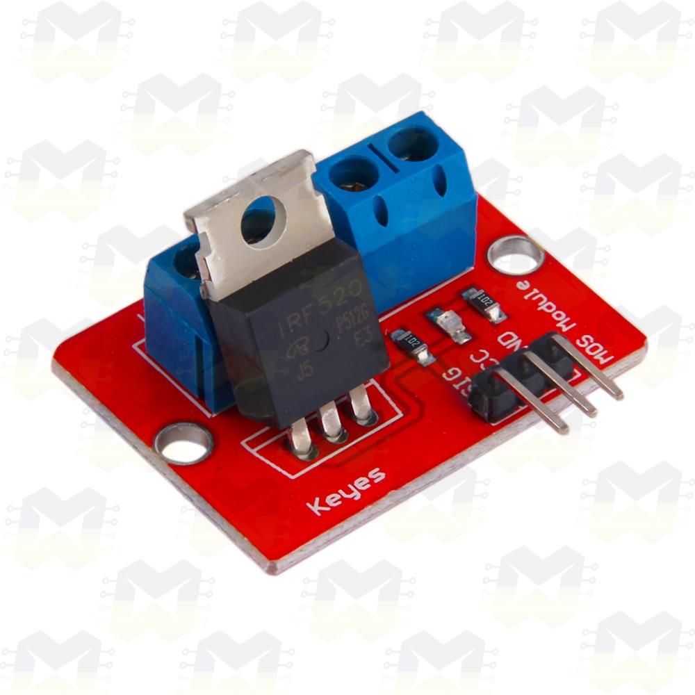 Módulo Driver para Motor DC / Fita de LED - IRF520 Arduino Automação Residencial Robótica Mosfet