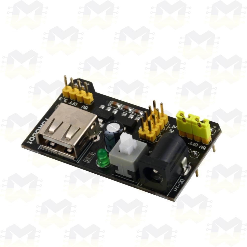 Fonte Ajustável 3.3V / 5V para Protoboard MB102 Arduino PIC Raspberry NodeMCU ESP8266 Breadboard Matriz de contato