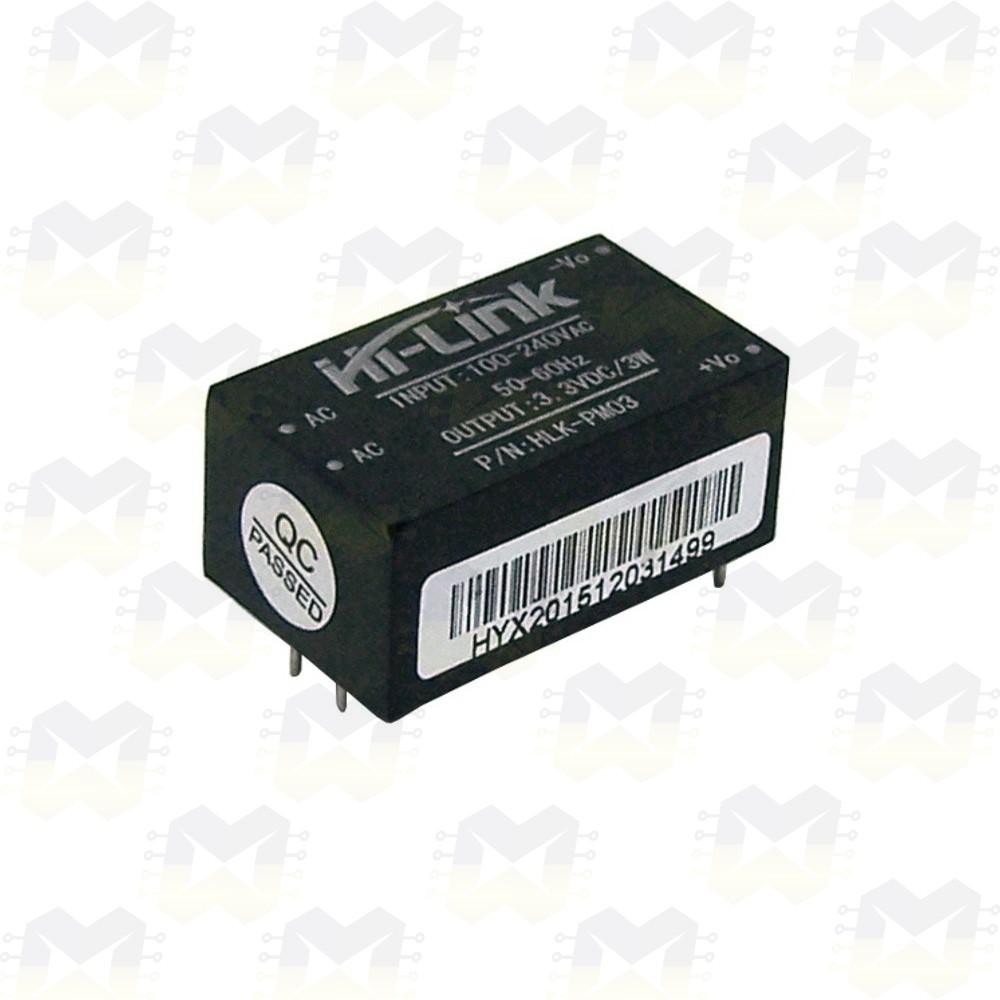 Fonte HLK-PM03 100-240V para 3.3V 3W