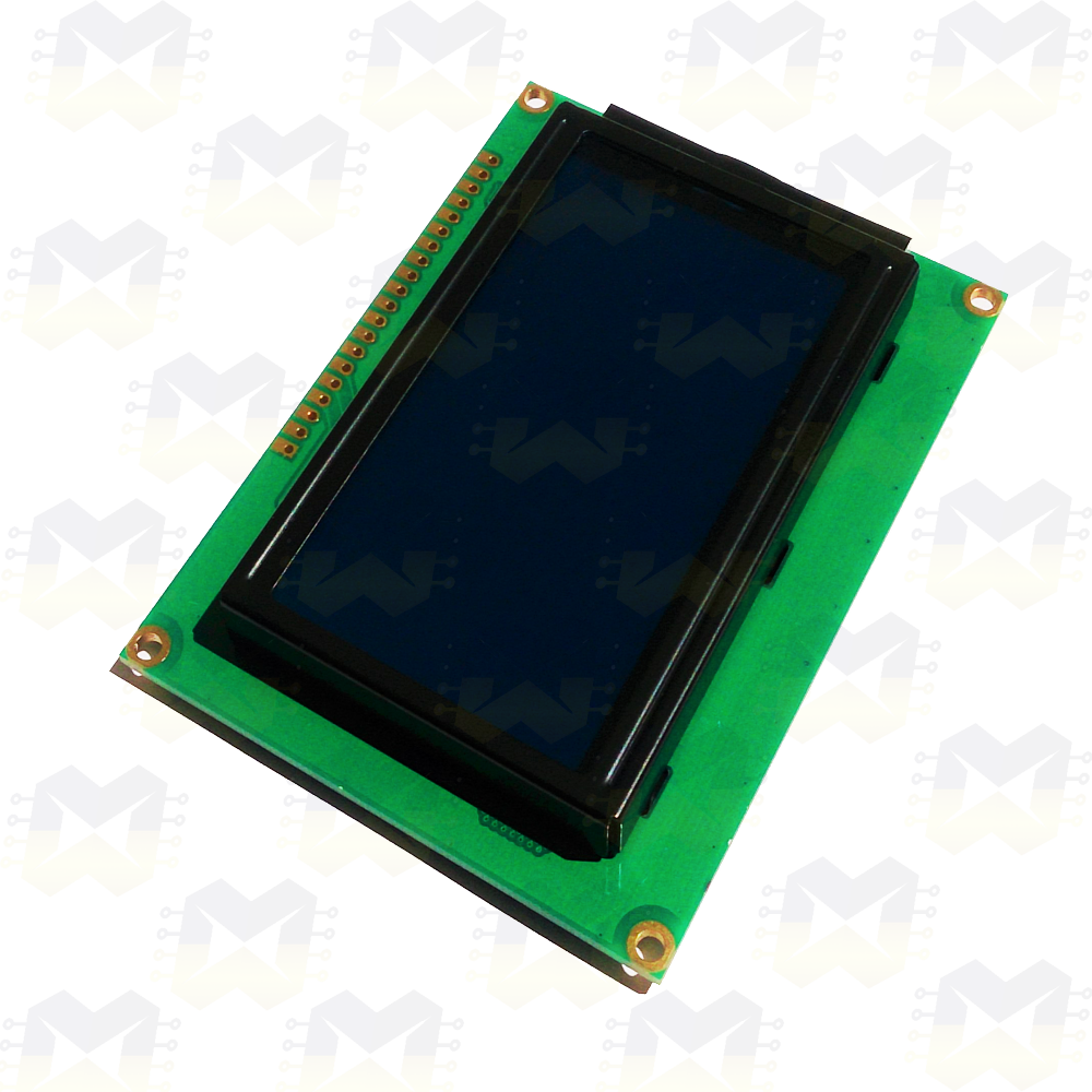 Display LCD Gráfico 128x64 com Backlight Azul Arduino Raspberry PIC