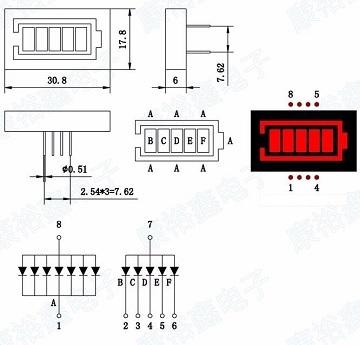 Display de LED Estilo Bateria