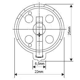 Suporte para Bateria CR2032 / CR2025 / CR2016