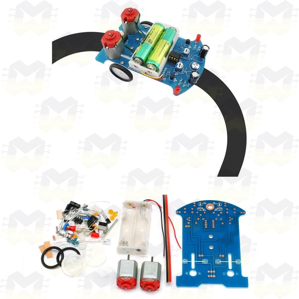 Kit Robô Inteligente Seguidor de Linha DIY D2-5