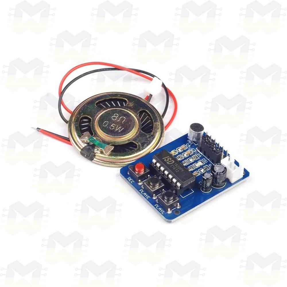 Módulo Gravador de Voz com Player e Alto-falante - ISD1820