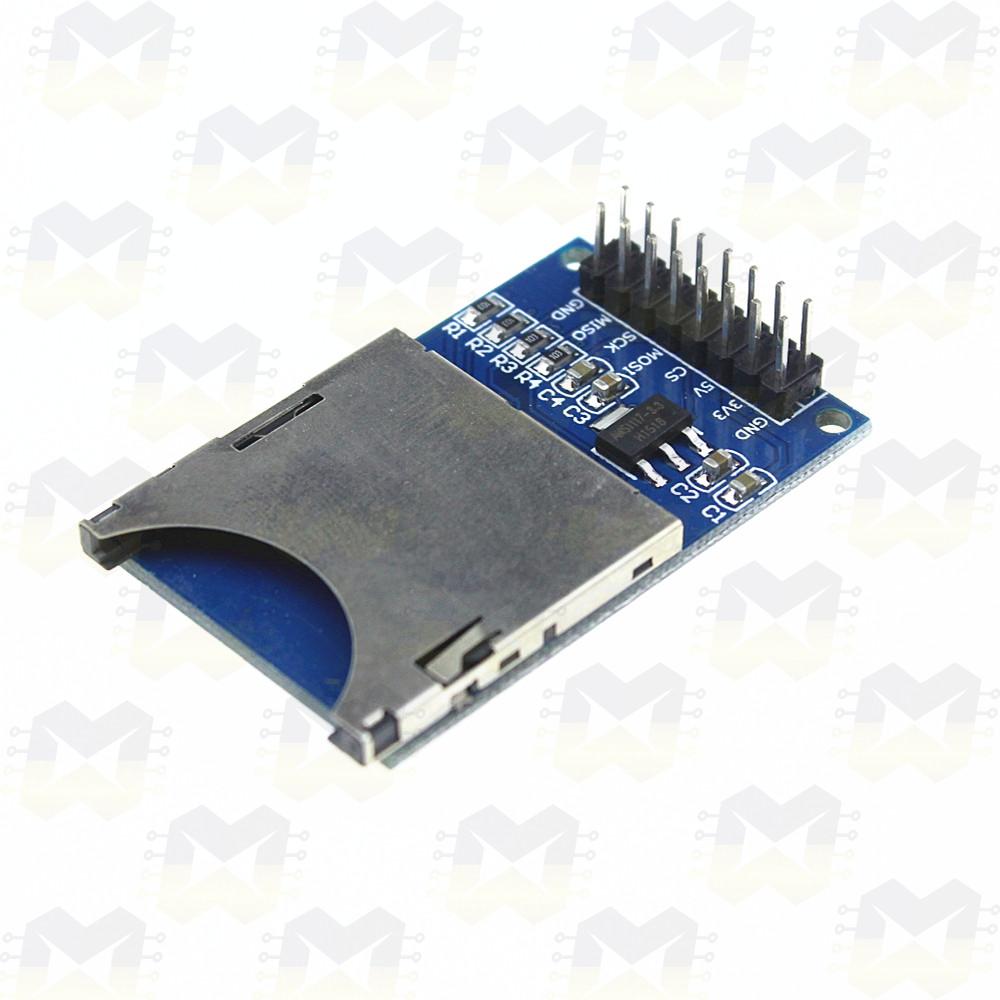 Módulo Leitor de SD Card Cartão de Memória Arduino Leitura Escrita Sensores Ações