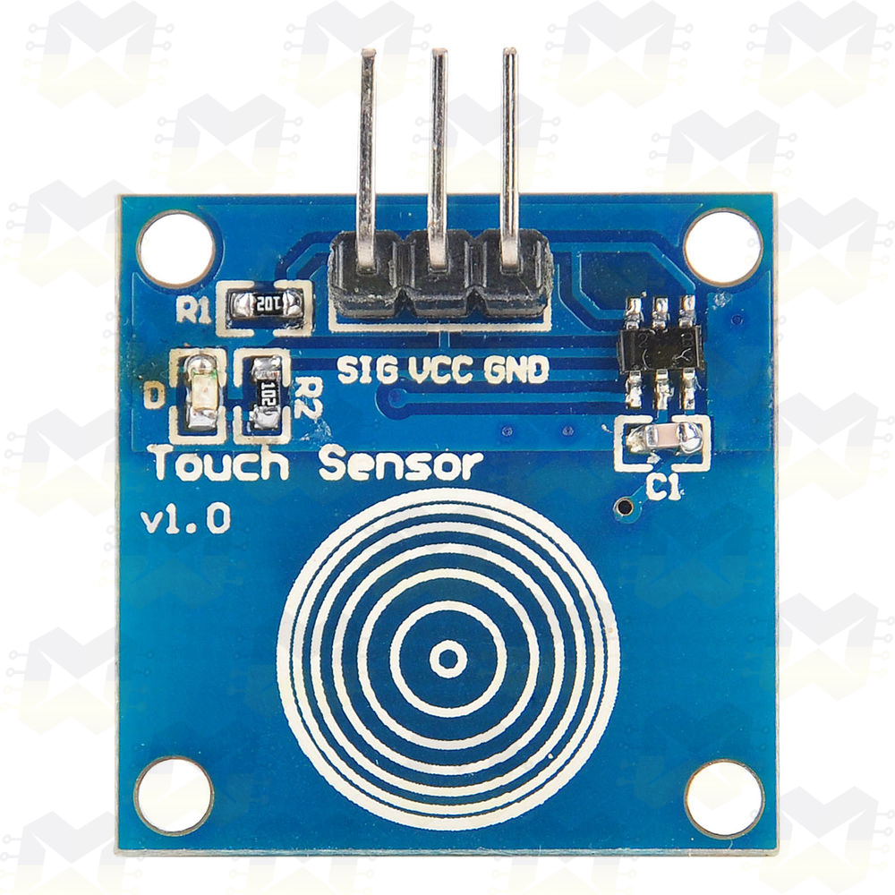 Sensor Capacitivo Touch (Toque) TTP223B Arduino PIC Raspberry Interruptor Iluminação Automação Residencial