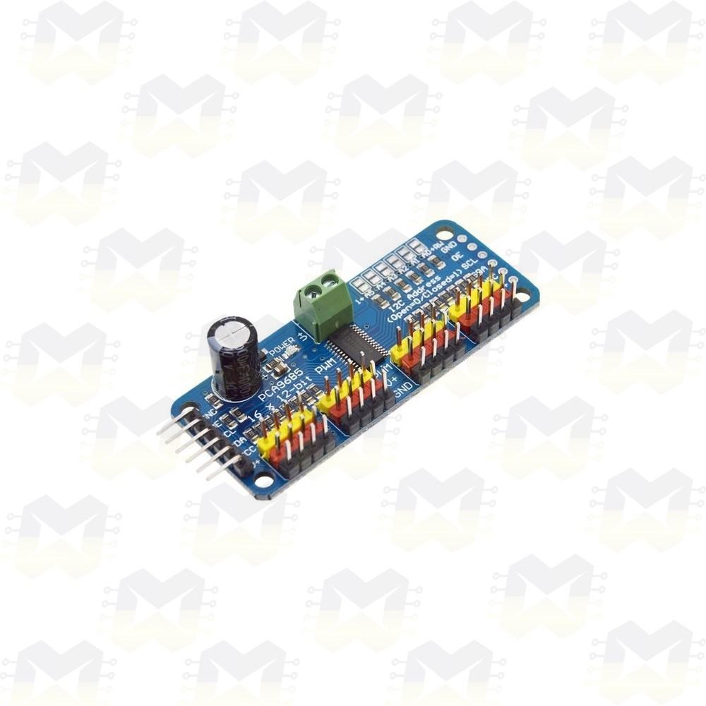 Módulo PCA9685 I2C 12 Bits de 16 canais PWM para Servo Motor
