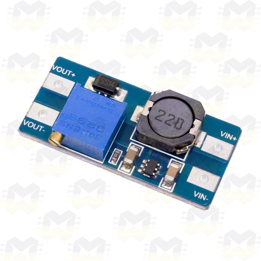Módulo Regulador (Elevador) de Tensão Ajustável Step Up DC-DC - MT3608 Arduino PIC Raspberry Fonte