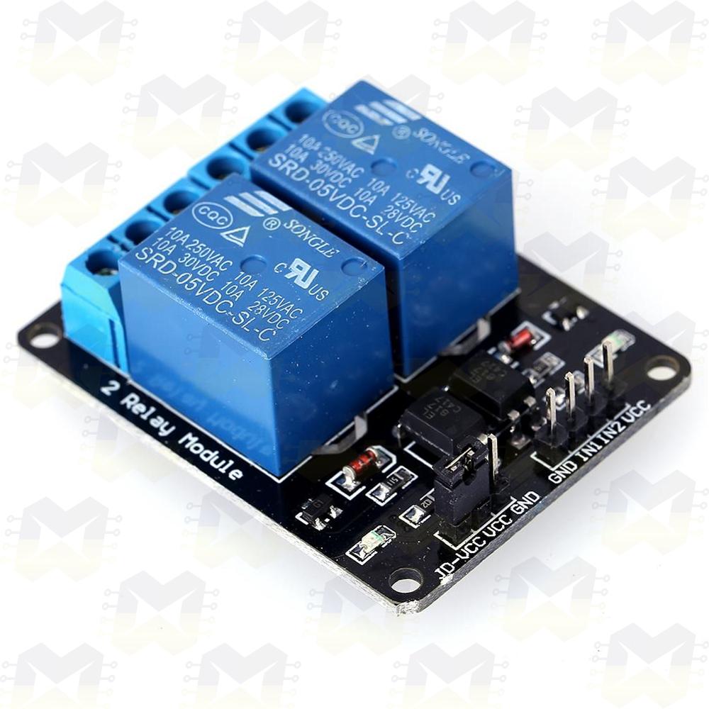 Módulo Relé 5V de 2 Canais Arduino NodeMCU ESP8266 PIC Automacao Residencial Lampada