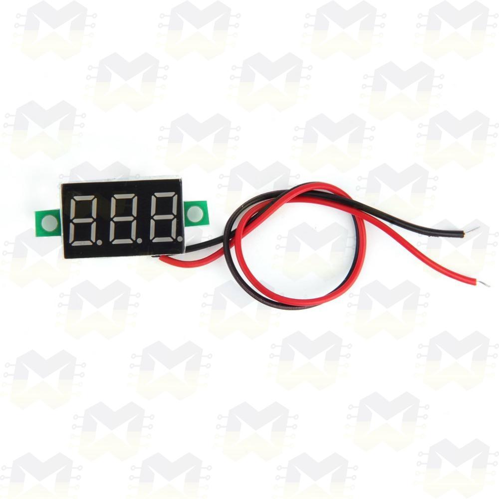 Módulo Voltímetro Digital de 3 Dígitos Vermelho Medidor de Tensão Arduino PIC Raspberry