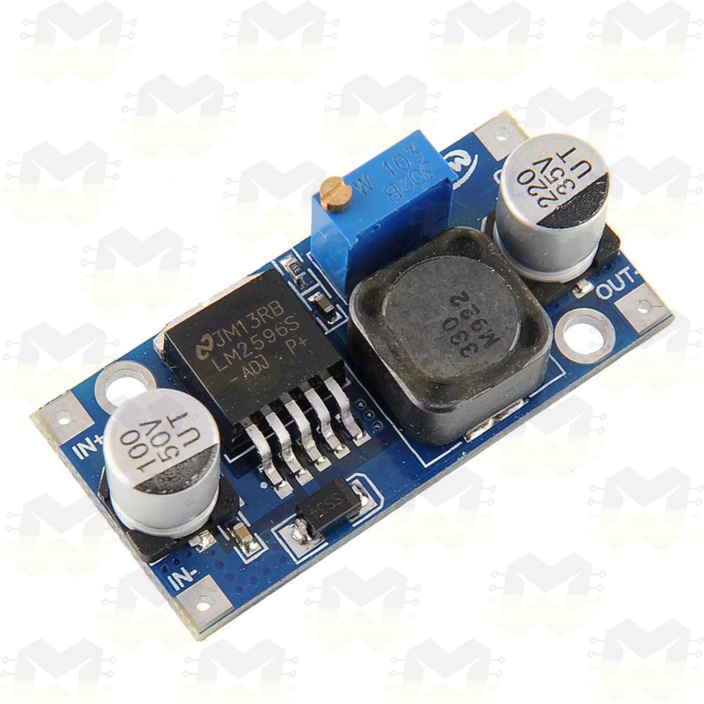 Módulo Regulador de Tensão Ajustável LM2596 DC-DC Step Down Arduino Fonte PIC Raspberry NodeMCU ESP8266 Protoboard