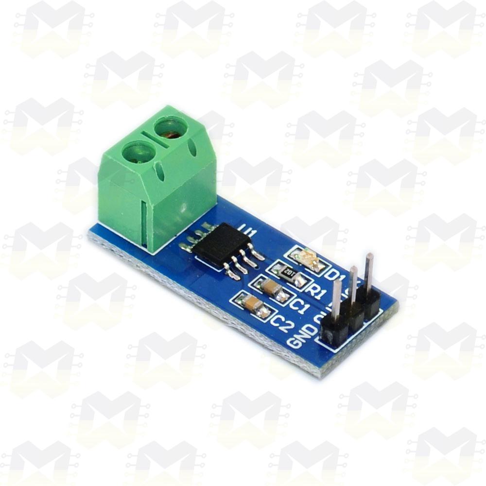 Sensor de Corrente (AC e DC) ACS712-30A Arduino PIC Raspberry Automação Residencial Medidor Efeito Hall