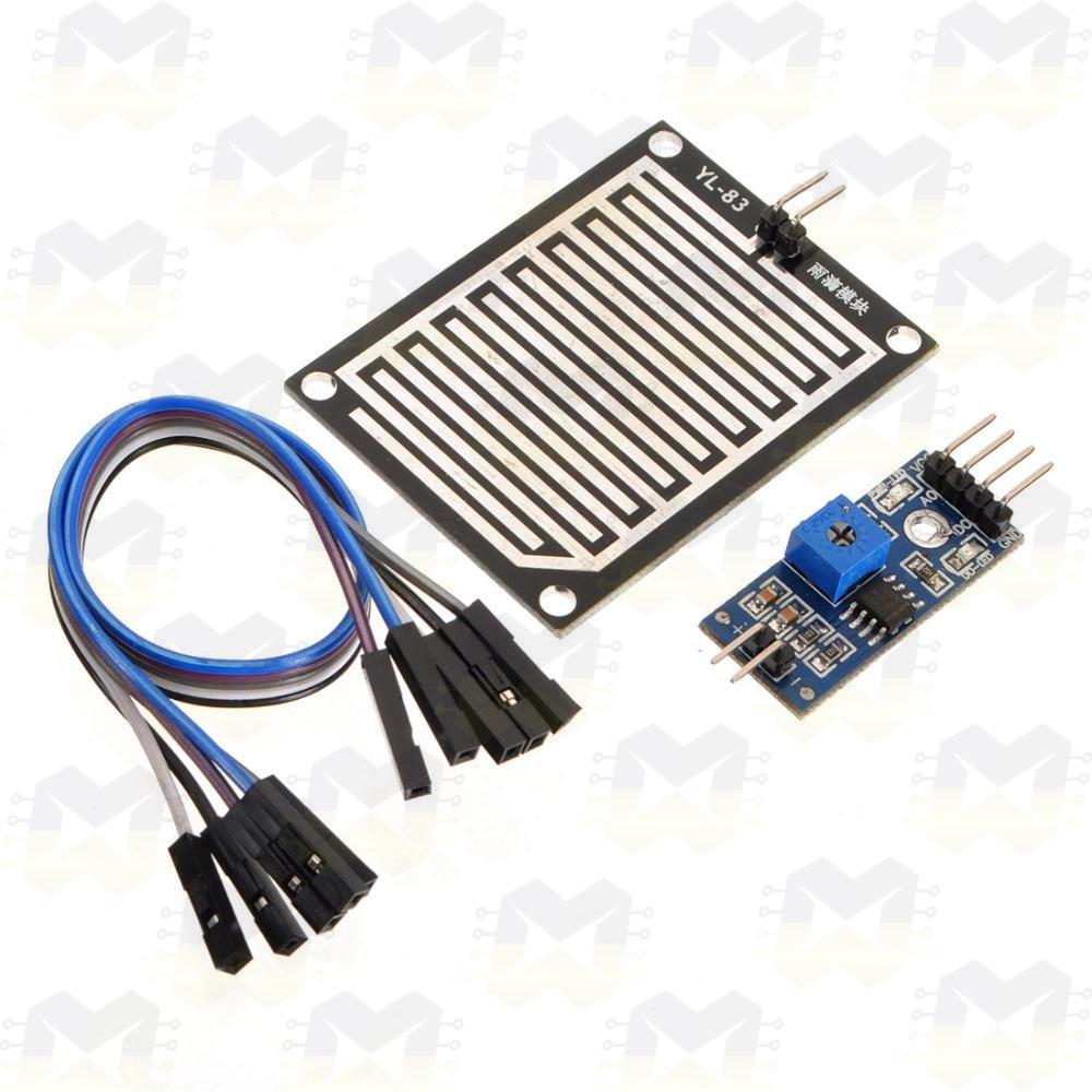 Sensor (Detector) de Chuva Arduino NodeMCU ESP8266 PIC Raspberry Automação Residencial Água Motor Janela