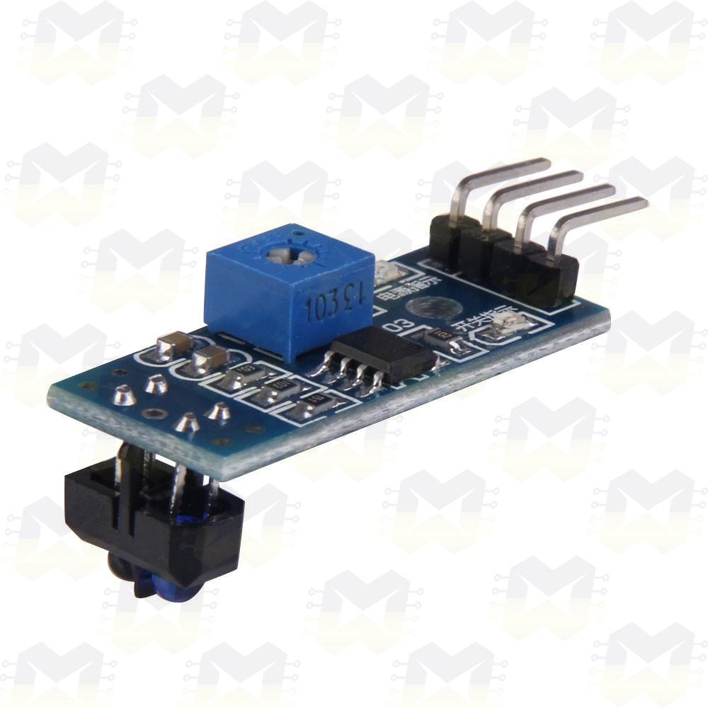 Sensor Seguidor de Linha TCRT5000 Trilha Arduino PIC Raspberry Robô Robótica Chassi