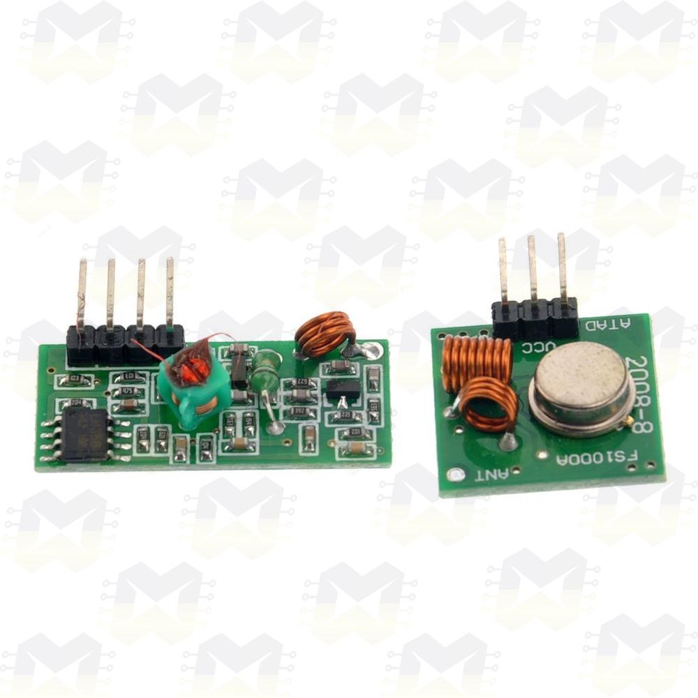 Módulo Wireless RF 433MHz (Transmissor e Receptor) sem fio Arduino Automação Residencial