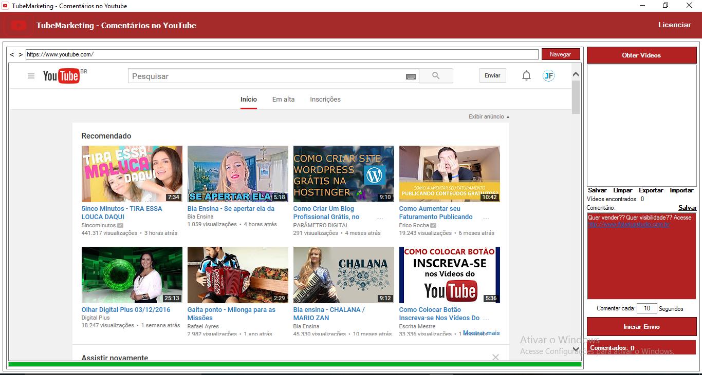 YouTube Marketing, Comentário em Massa, Sem limites