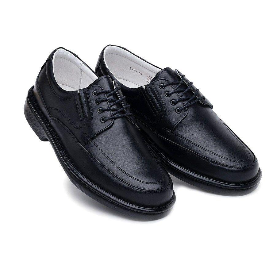 078befb89 ... Sapato Casual ClaCle Conforto Masculino Preto com Cadarço - Imagem 5 ...