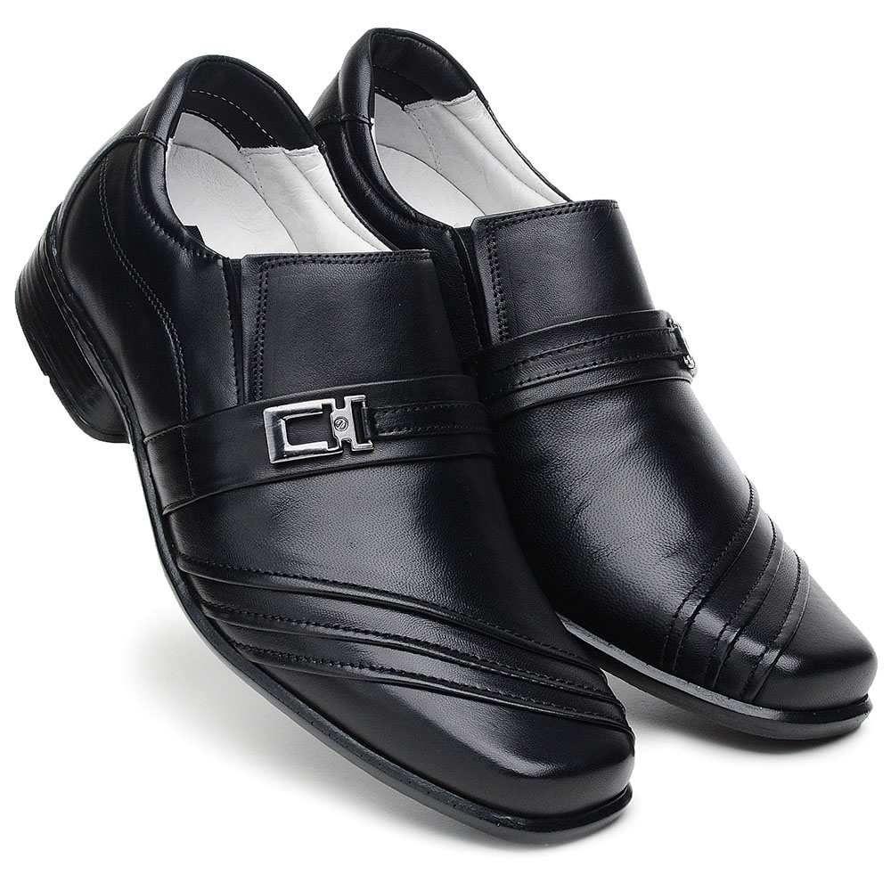 e0d277d54 ... Sapato Masculino Ranster com Amortecedor Bico Quadrado Couro Preto -  Imagem 3 ...