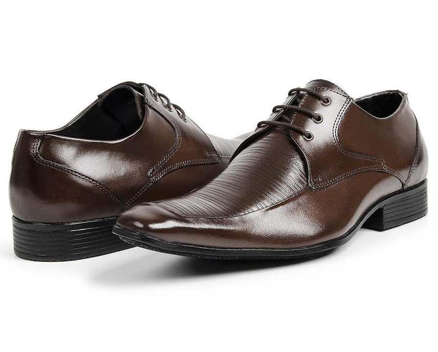 694fc70b02 ... Sapato Social Bigioni com Cadarço Couro Marrom ou Preto - Imagem 4 ...