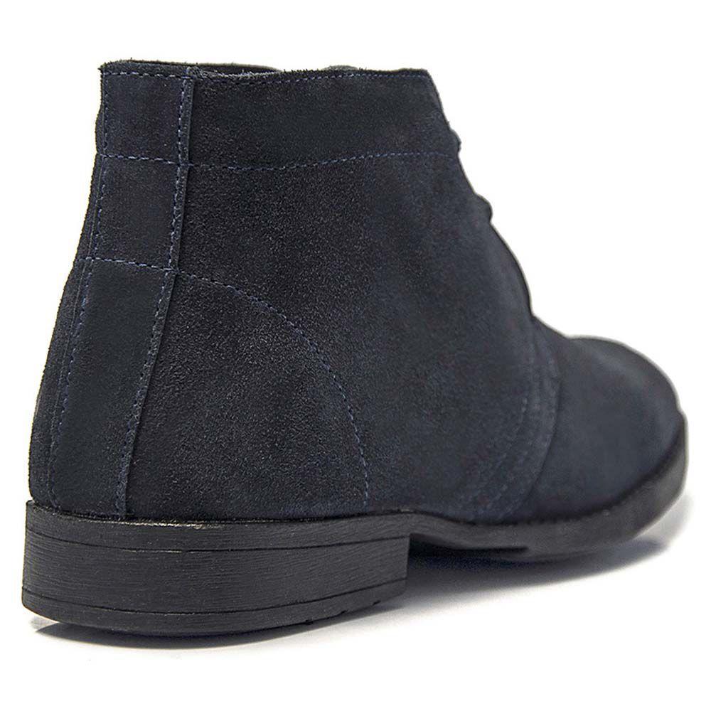 95c4fa5c8 Sapato Abotinado Salazari Camurça Azul - Loja Santa Fé Calçados ...