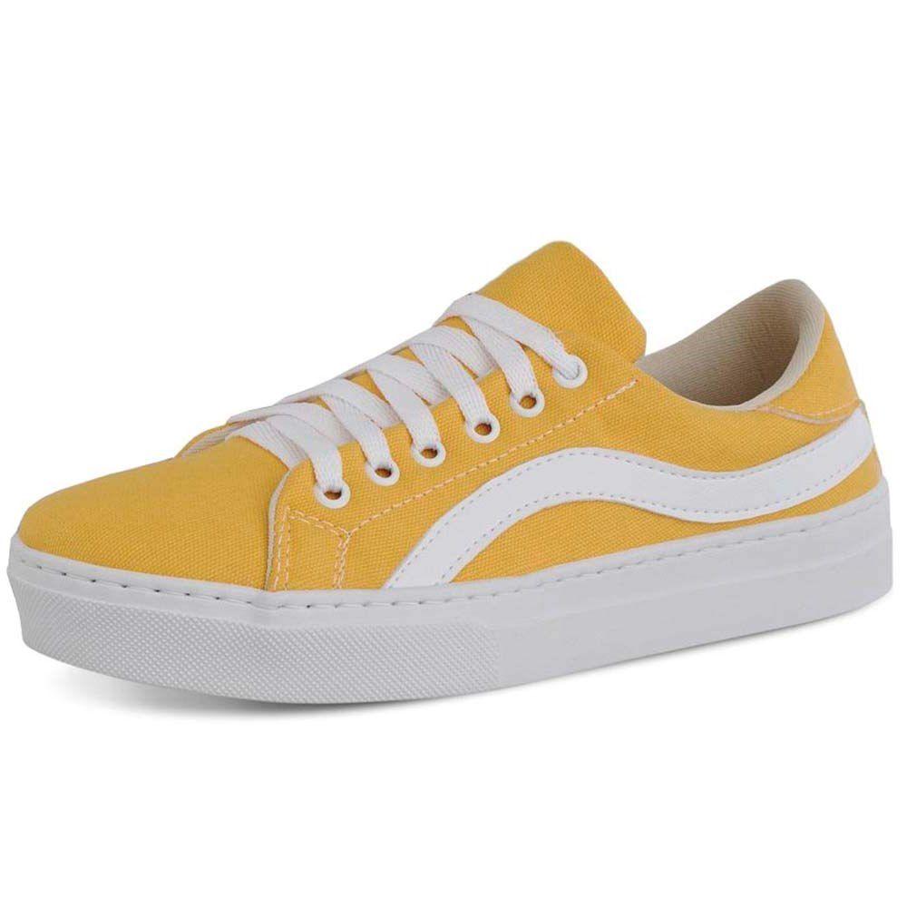 8d5c6339a1 Tênis Feminino Amarelo Torani - Loja Santa Fé Calçados Masculinos e ...