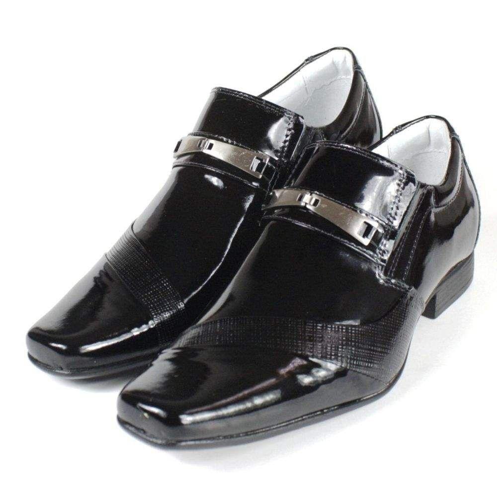 5bf4ead195 ... Sapato Masculino Mafisa Sola de Borracha Verniz Preto - Imagem 5 ...