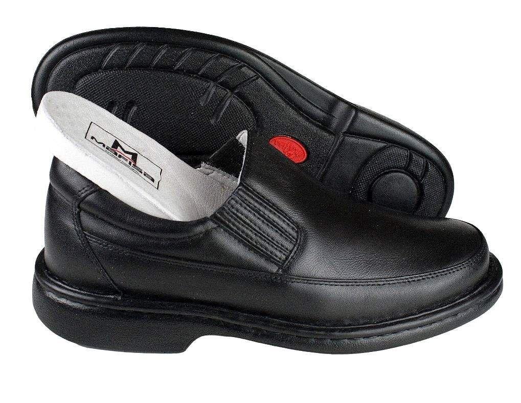 6a43c566d ... Sapato Masculino Mafisa Confortável Antistress Couro Preto - Imagem 4  ...