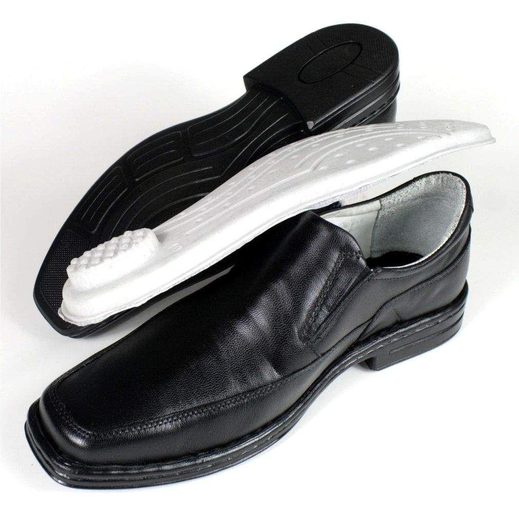 d5b6dc4609 ... Sapato Masculino Mafisa Confortável Palmilha com Amortecedor Couro  Preto - Imagem 3 ...