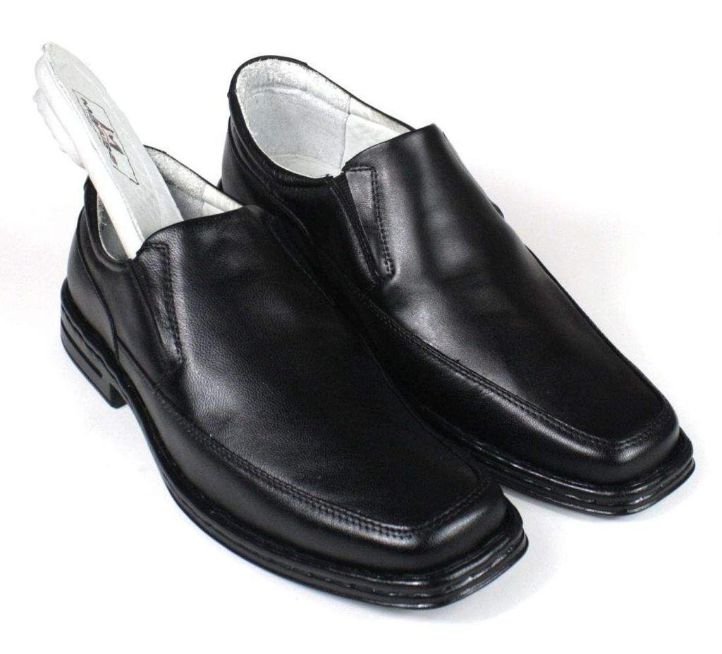 d1840390b4 ... Sapato Masculino Mafisa Confortável Palmilha com Amortecedor Couro  Preto - Imagem 5