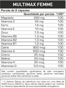 tabela de valores nutricionais de suplementos