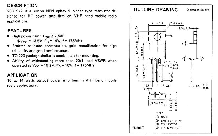 trasistor c1972