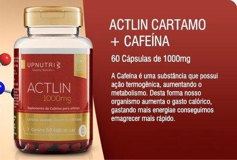 Actlin Cartamo + Cafeína com Vitamina E 60 Capsulas 1000mg
