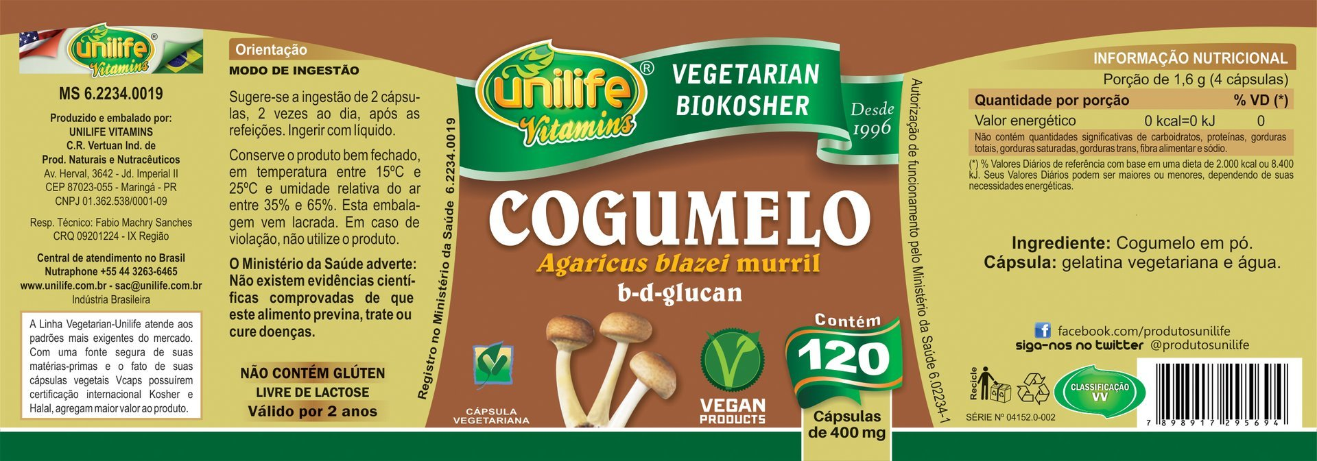 Cogumelo Agaricus blazei Loja Folha Verde
