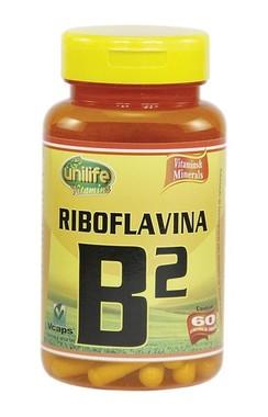 Vitamina B2 Riboflavina 60 Cápsulas (500mg) - Unilife