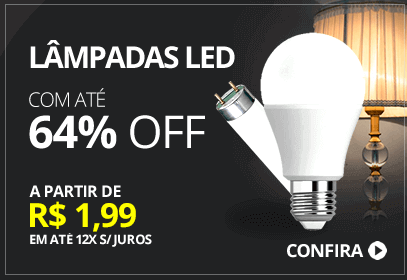 Lâmpada LED até 64% OFF