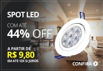Spot LED até 44% OFF