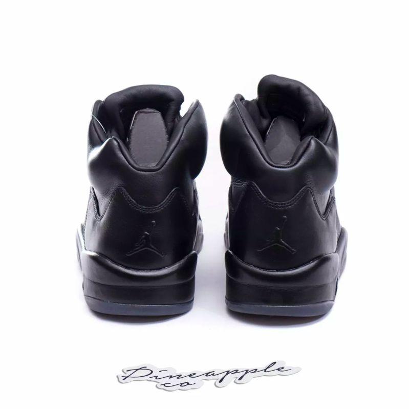 "Nike Air Jordan 5 Retro Premium ""Triple Black"" - Pineapple Co. a54df4225"