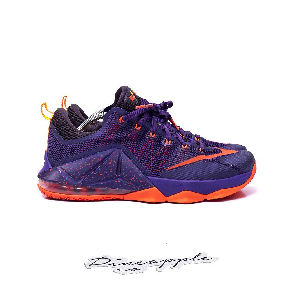 "low priced 3a347 21e39 ... Nike LeBron 12 Low ""Court Purple"" - Imagem 3 ..."