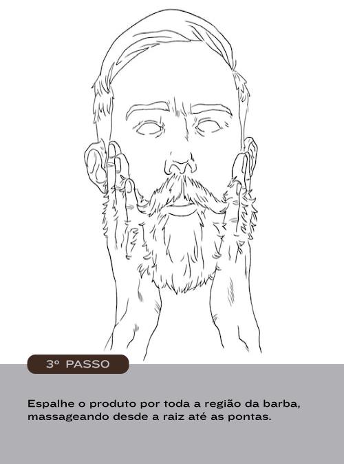 Como usar Balm Barba Brava - passo 3