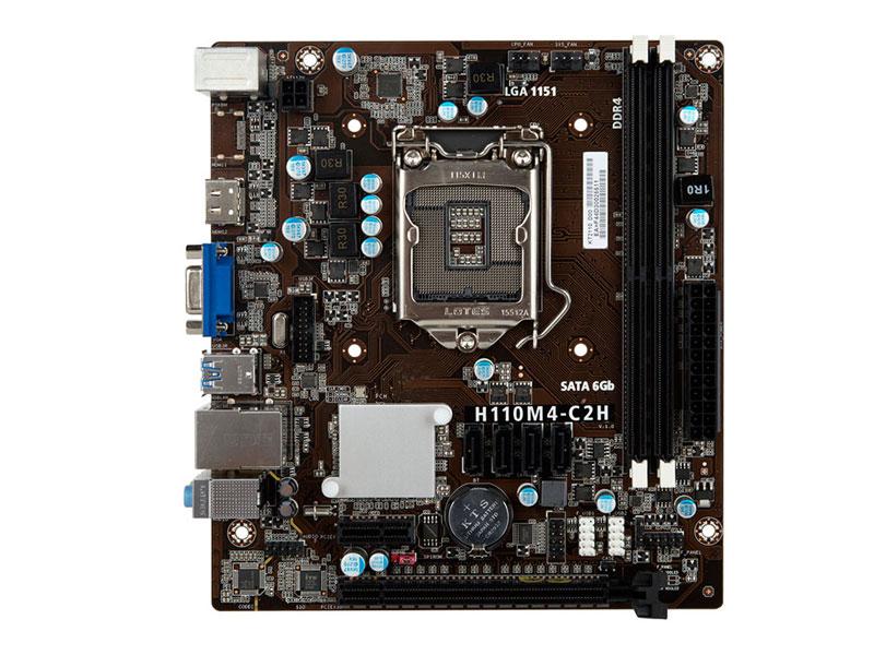 Placa mãe socket 1151 intel centrium c2016 h110m4 c2h