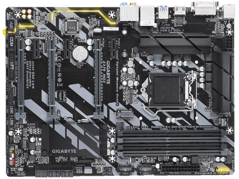 Placa mãe socket 1151 intel gigabyte z370 hd3