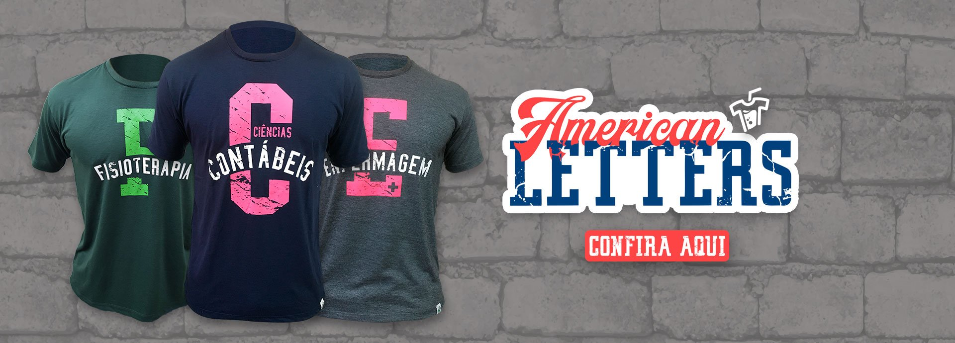 Banner Linha American Letters