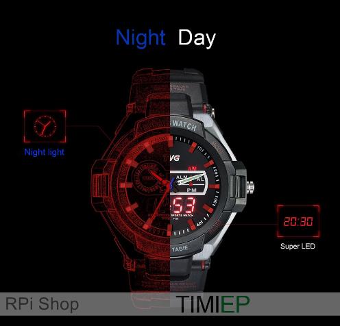 cc0801dcadd Relógio TVG Pointer com alarme de vibração - RPi Shop