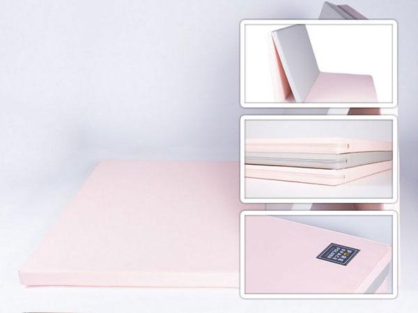 colchonete de atividades parklon 3 placas rosa cinza 180cm x 80cm x 4cm