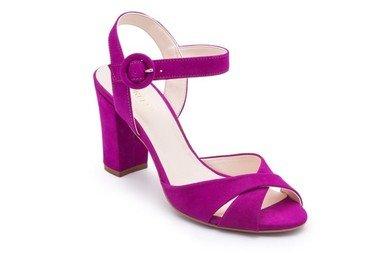 Sandalia Nobuck Salto Bloco Pink PRETTY PRINCESS