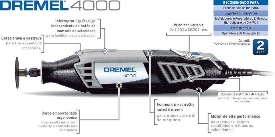 Microretífica Dremel 4000 é na HP Máquinas