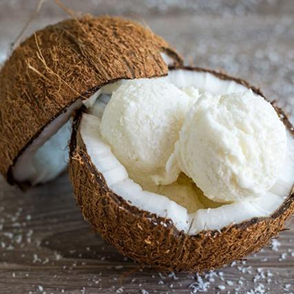 sorvete de creme de coco